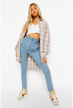 Tall - Jean skinny taille haute, Light blue bleu