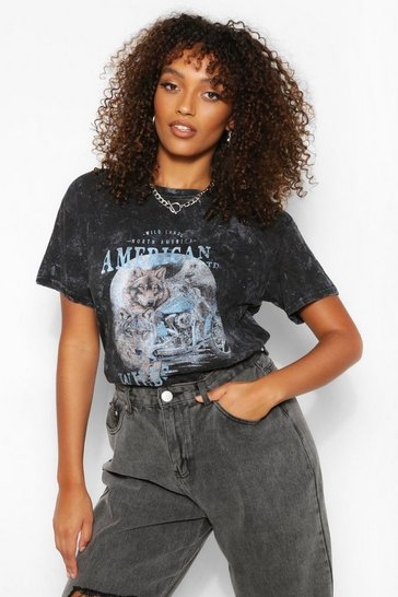 Black Tall 'American Wilds' T-Shirt