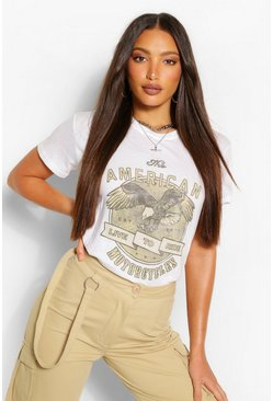 White Tall 'American Motorcycles' T-Shirt