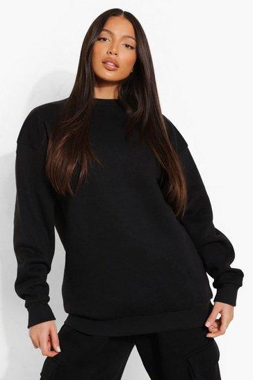 Black Tall Oversized Sweater