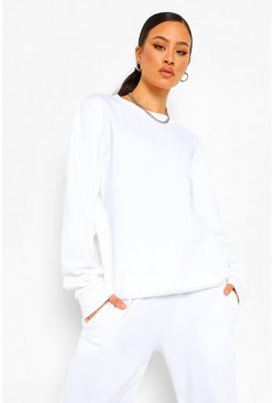 White Tall Oversized Sweater