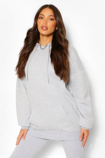 Grey Tall Oversized Hoody
