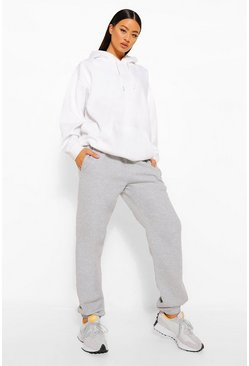 Grey grå Tall - Basic Joggers med muddar
