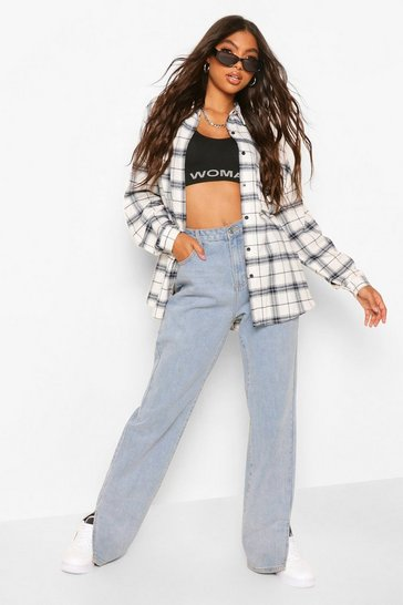 Blue Tall Extreme Oversized Check Shirt