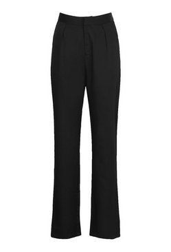 Black Tall Tailored High Waisted Woven Trousers