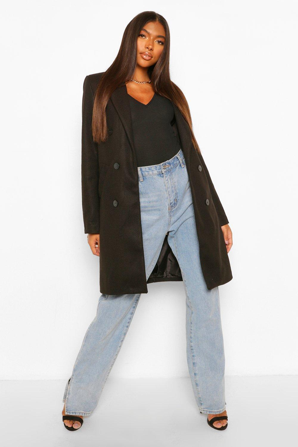 SALE Tall Double Breasted Wool Look Coat