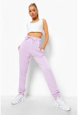 Lilac purple Tall Loopback Tie Detail Sweat Joggers