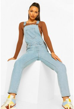 Tall Denim Mom Dungaree, Indigo azul