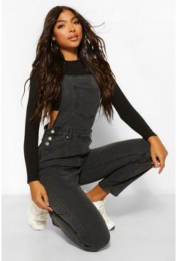 Black Tall Denim Mom Dungaree