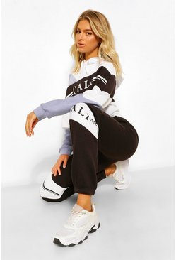 Black Tall 'Cali' Colour Block Joggers