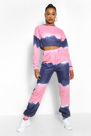 Pink Tall Tie Dye Joggers