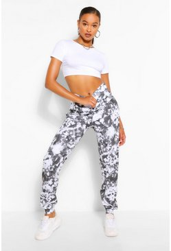 Black Tall Loopback Tie Dye Sweat Joggers