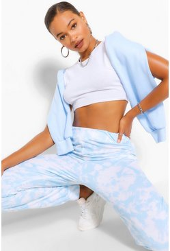 Blue Tall Loopback Tie Dye Sweat Joggers