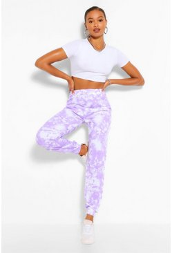 Lilac purple Tall Loopback Tie Dye Sweat Joggers