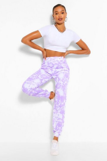 Lilac purple Purple Tall Loopback Tie Dye Sweat Joggers