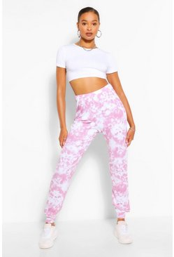 Pink Tall Loopback Tie Dye Sweat Joggers