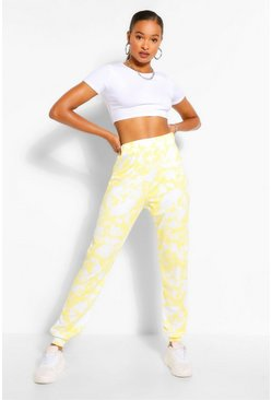 Yellow Tall Loopback Tie Dye Sweat Joggers