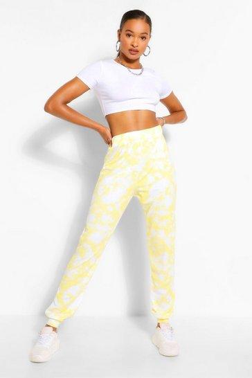 Yellow Tall Loopback Tie Dye Sweat Joggers