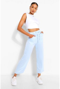 Blue Tall Loopback Culotte Pocket Sweat Pants