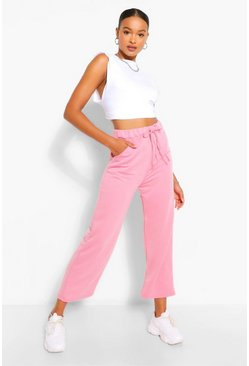 Pink Tall Loopback Culotte Pocket Sweat Pants