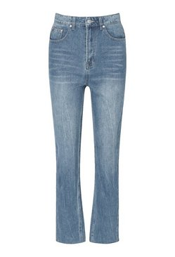 Vintage blue Tall Vintage Wash Cropped Straight Jeans