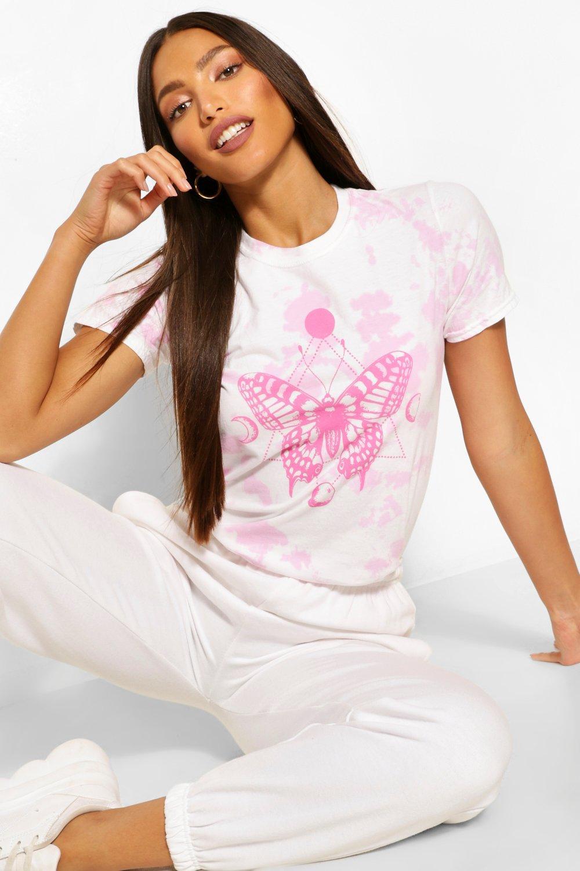Tall Clothing Tall Tie Dye Butterfly Eclipse Print T-Shirt