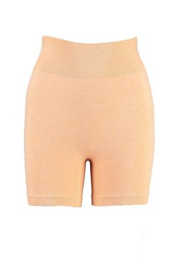 Peach Tall Fit Seamfree Contrast Gym Shorts
