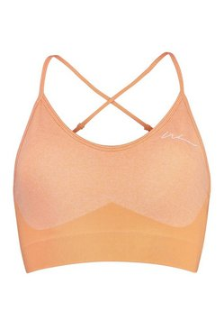 Peach Tall Fit Seamfree Contrast Sports Bra
