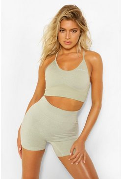 Sage green Tall Fit Seamfree Contrast Sports Bra