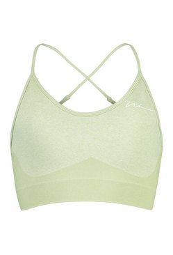 Sage Tall Fit Seamfree Contrast Sports Bra