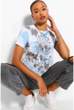 Grey Tall Tie Dye Moon Graphic T-Shirt