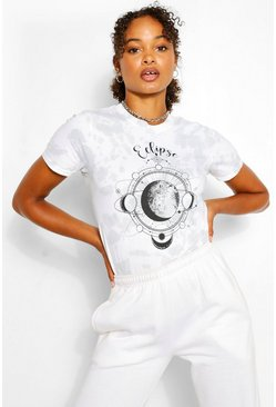 Grey Tall Tie Dye 'Eclipse' Graphic T-Shirt