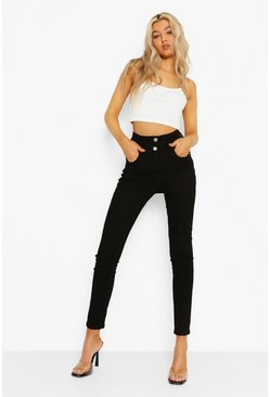 Black Tall Denim Bum Lifting Skinny Jeans