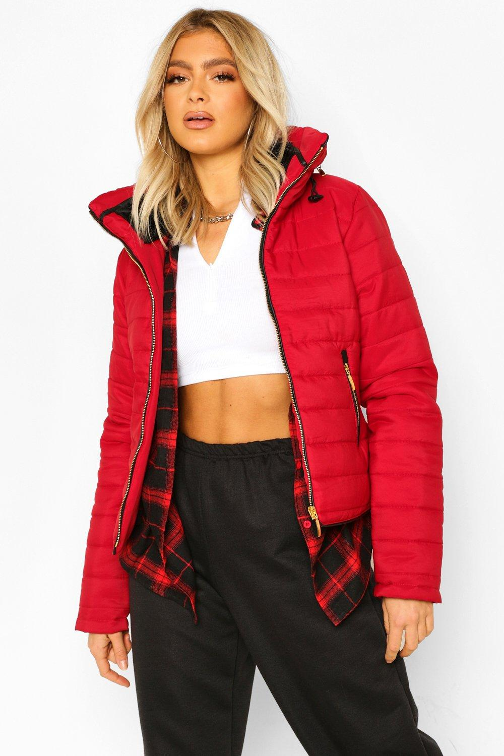 Puffer Jackets Tall Faux Fur Trimmed Puffer Belted Coat