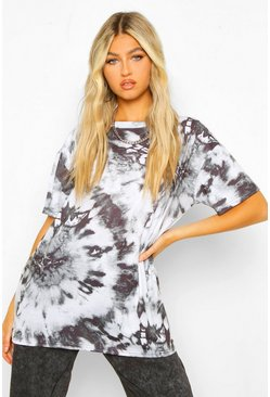 Black Tall Tie Dye T-Shirt