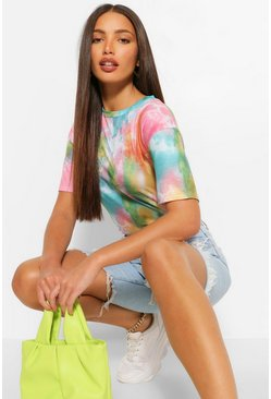 T-shirt Tall effetto tie dye, Multi