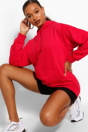 Tall Basic Red Hoody