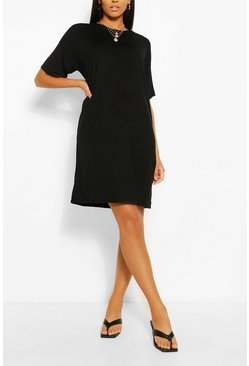 Black Tall Plain T-Shirt Dress