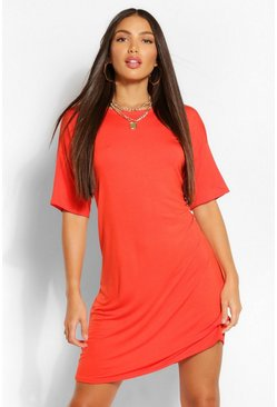 Orange Tall Plain T-Shirt Dress