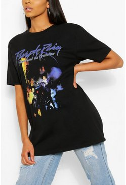 "Black svart Tall - ""Purple Rain"" Oversize t-shirt"