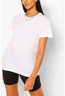 White Tall Plain Cotton T-Shirt