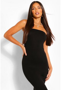 Black Tall Bandeau Midaxi Dress