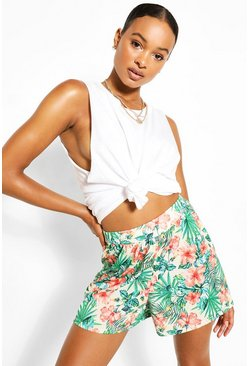 Ecru Tall Floral Print Flippy Shorts