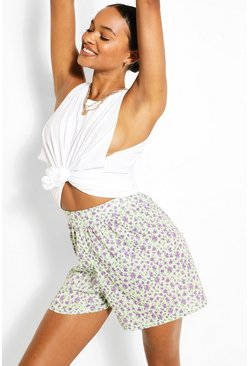 Sage Tall Floral Print Flippy Shorts