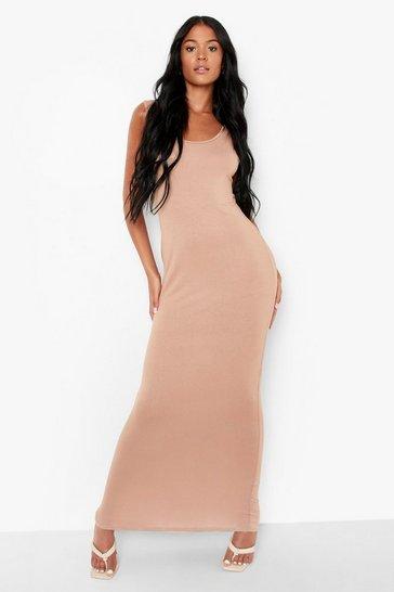 Camel beige Tall Basic Maxi Dress