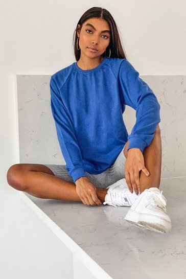 Blue Tall Oversized Balloon Sleeve Sweat