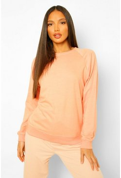 Orange Tall Balloon Sleeve Sweat