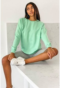 Sage Tall Balloon Sleeve Sweat