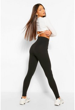 Black Tall Core Basic Jersey Leggings