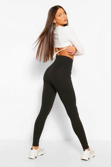 Black Tall Core Basic Jersey Leggings